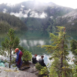 Hiking along the southeast Alaskan coast