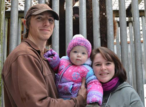 Claire Turner and her family